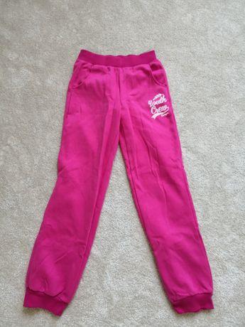 Spodnie dresowe dla dziewczynki różowe
