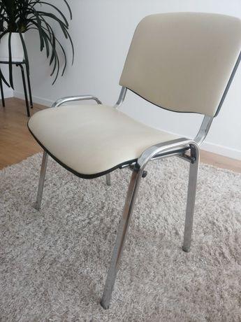 Krzesło TAASTRUP beżowe/chrom