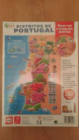 Puzzle Distritos de Portugal