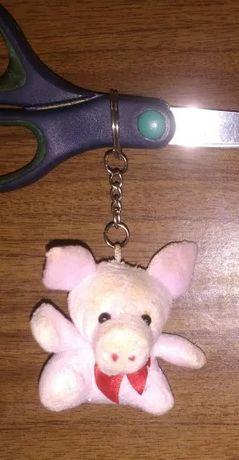 Мягкая игрушка брелок свинка свинья