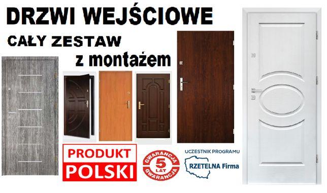 Drzwi z MONTAŻEM-wejściowe do mieszkania-zewnętrzne-GWARANCJA