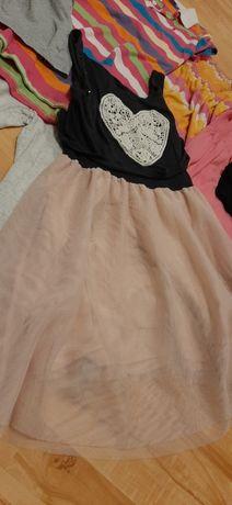 Sukienka spodnie piękne 134cm 8 9 lat