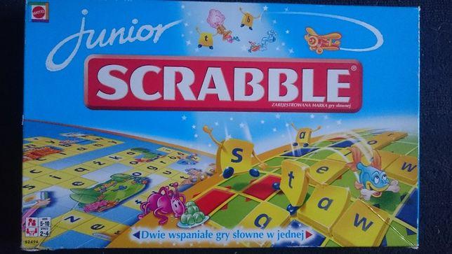 Scrabble junior, dwie gry/poziomy w jednej, firmy Mattel.