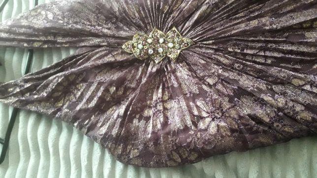 Sukienka długa wesele przyjęcie wiązanie na szyi rozm.38
