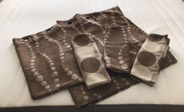 Conjunto Cortinados e capas almofada