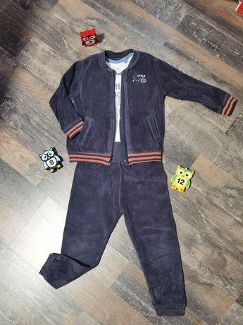 Костюм для мальчика, велюровый, спортивный костюм 2 года