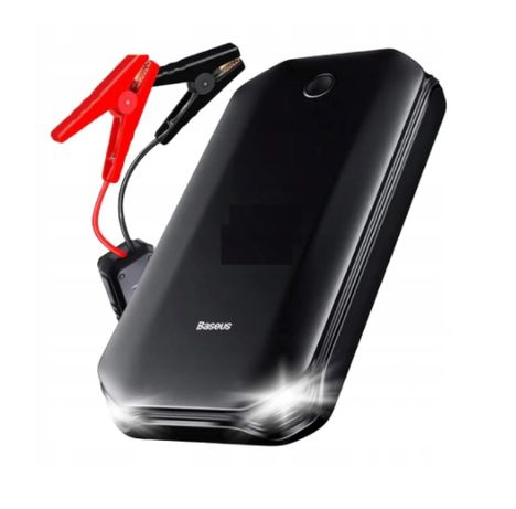 NOWY Baseus power bank car JUMP STARTER 12V + klemy LED 800A 8000mah