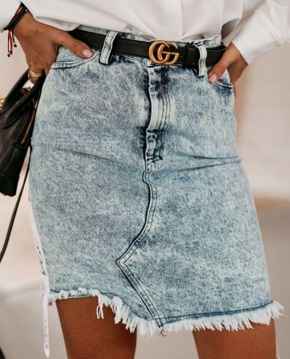 Spódnica jeansowa Ola Voga, rozmiary: XS, S, M, WYPRZEDAŻ Mińsk Mazowiecki - image 1