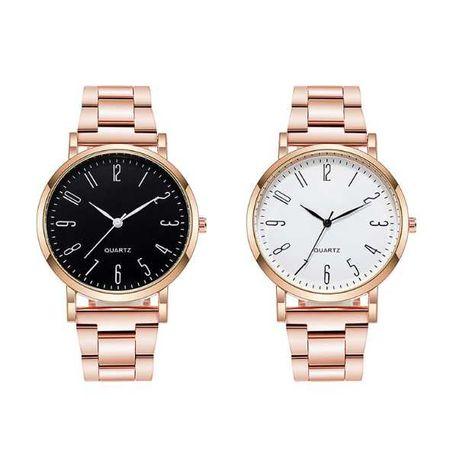 Классические женские часы металлический ремешок Розовое золото