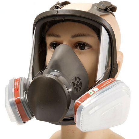 Máscara respirador de rosto inteiro Facial+Caixa de Filtro+Filtros N95