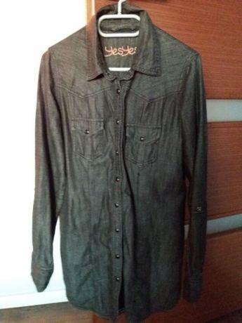 Koszula, tunika jeansowa czarna New Look 40 L