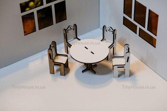 """Набор мебели """"круглый стол и стулья"""" Набір меблів кукольний"""