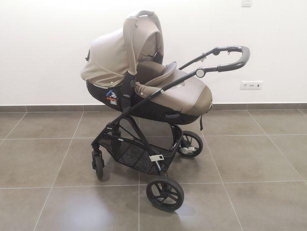 Carrinho de bebé 3 em 1 (com ovo alcofa e carrinho passeio)