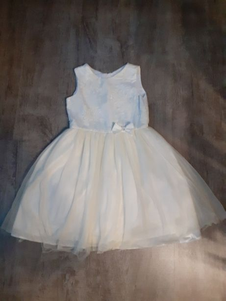 Sukienka na panienkę ecru , na wesele piękna , cudo .