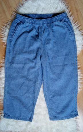 Летние котоновые джинсовые удлиненные шорты, бриджи