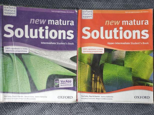 2 podręczniki new matura Solutions Intermediate i Upper-Intermediate
