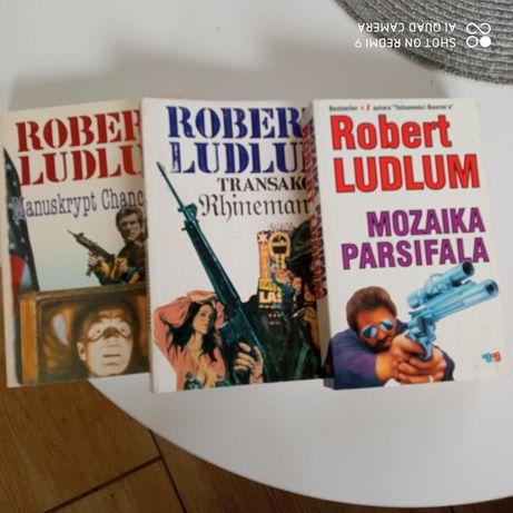 zestaw 3 książek Ludlum