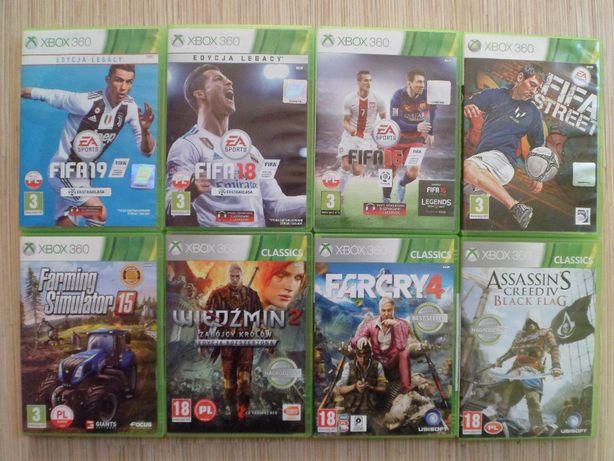 Farming Simulator 15, Fifa 19,18,16,Wiedzmin 2 - Gry Xbox 360 , gra