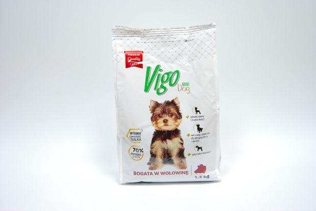 Karma VIGO 1,5 kg z wołowiną dla psa, rasy małe i miniaturowe < 10kg.