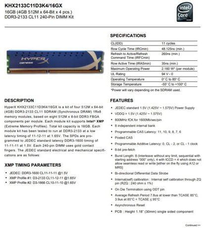 Оперативная память DDR3 Kingston 32 Gb