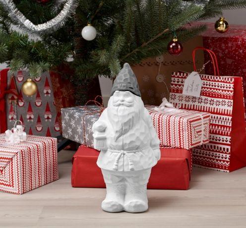 IKEA Mikołaj, skrzat, ozdoba świąteczna, bożonarodzeniowa; z latarenka