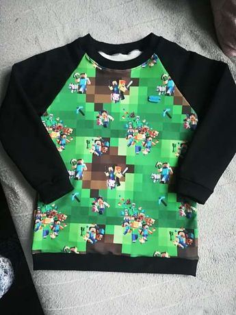 Bluza Minecraft dres handmade Fortinite