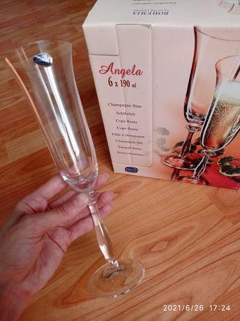Набір бокалів для шампанського CRYSTALITE BOHEMIA Чехія