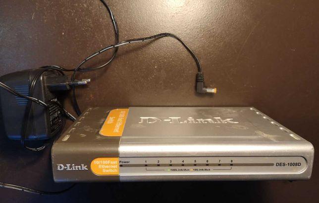 Коммутатор (switch) D-link DES 1008D, 8 портів, 2 шт