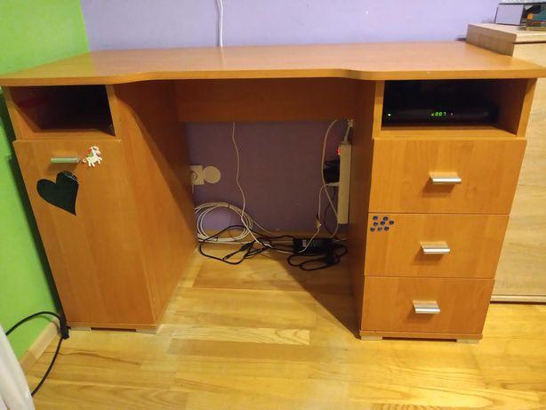 Biurko z szufladami i szafką