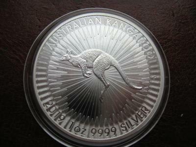 Австралия 1 доллар 2019 года 1 унция серебра 999