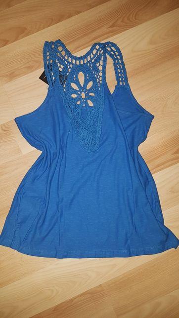 Koszulka bluzka na ramiączka niebieska