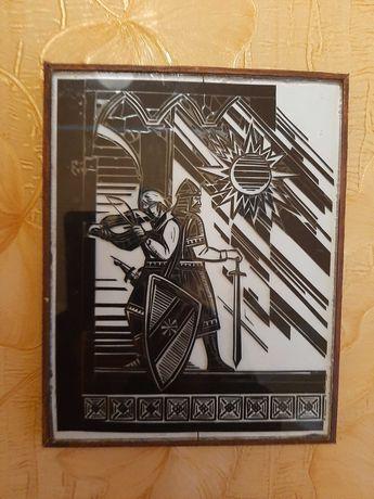 Картина изолентой по стеклу
