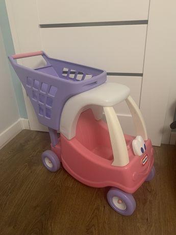 Little Tikes Różowy wózek z koszem na zakupy