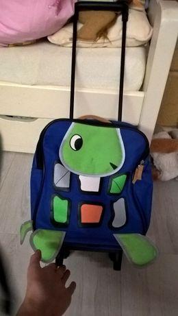 walizka żółw na kółkach