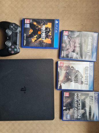 PS4 SLIM 500Gb mais 4 jogos