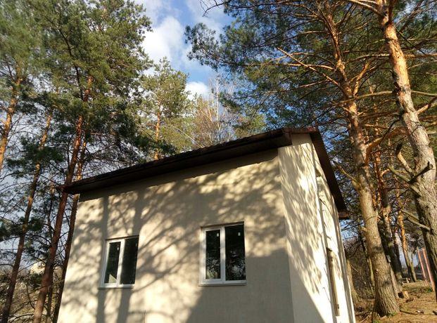 Новый дом в соснах, площадь 100 м2