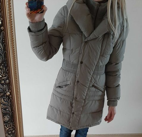 Ciepła kurtka zimowa szara/popiel-rozmiar S,M,L,XL