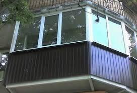 Обшивка балкона, Ремонт балкона, Наружка профлист