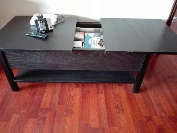 Mesa de centro em madeira preta