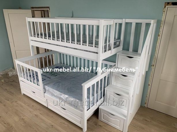 Двухъярусная деревянная кровать Виола2, двоярусне, двоповерхове,ліжко