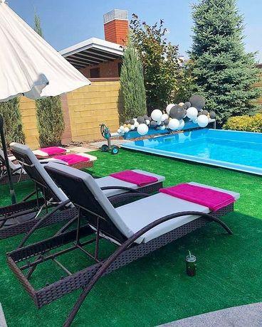 Садовая плетеная мебель, стулья, столы, шезлонги, кресло, диван, кашпо