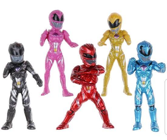 5 pcs Power Rangers Topo de Bolo (Portes Incluídos)