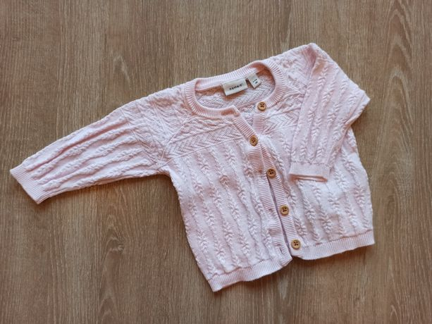 Sweterek / sweter różowy dla dziewczynki r 56 Name it