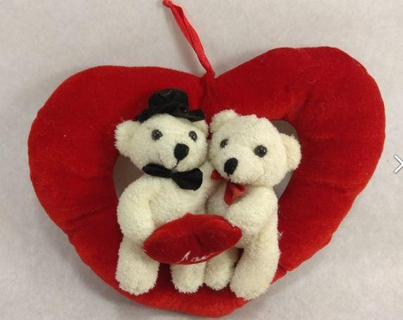 игрушка мягкая германия сердце белый мишка жених невеста 23см медведь