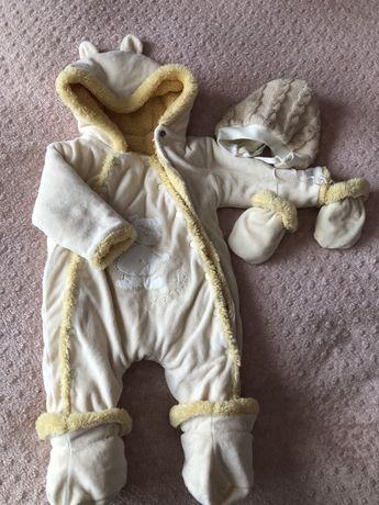 Комбинезон для новорождённого на холодное время года
