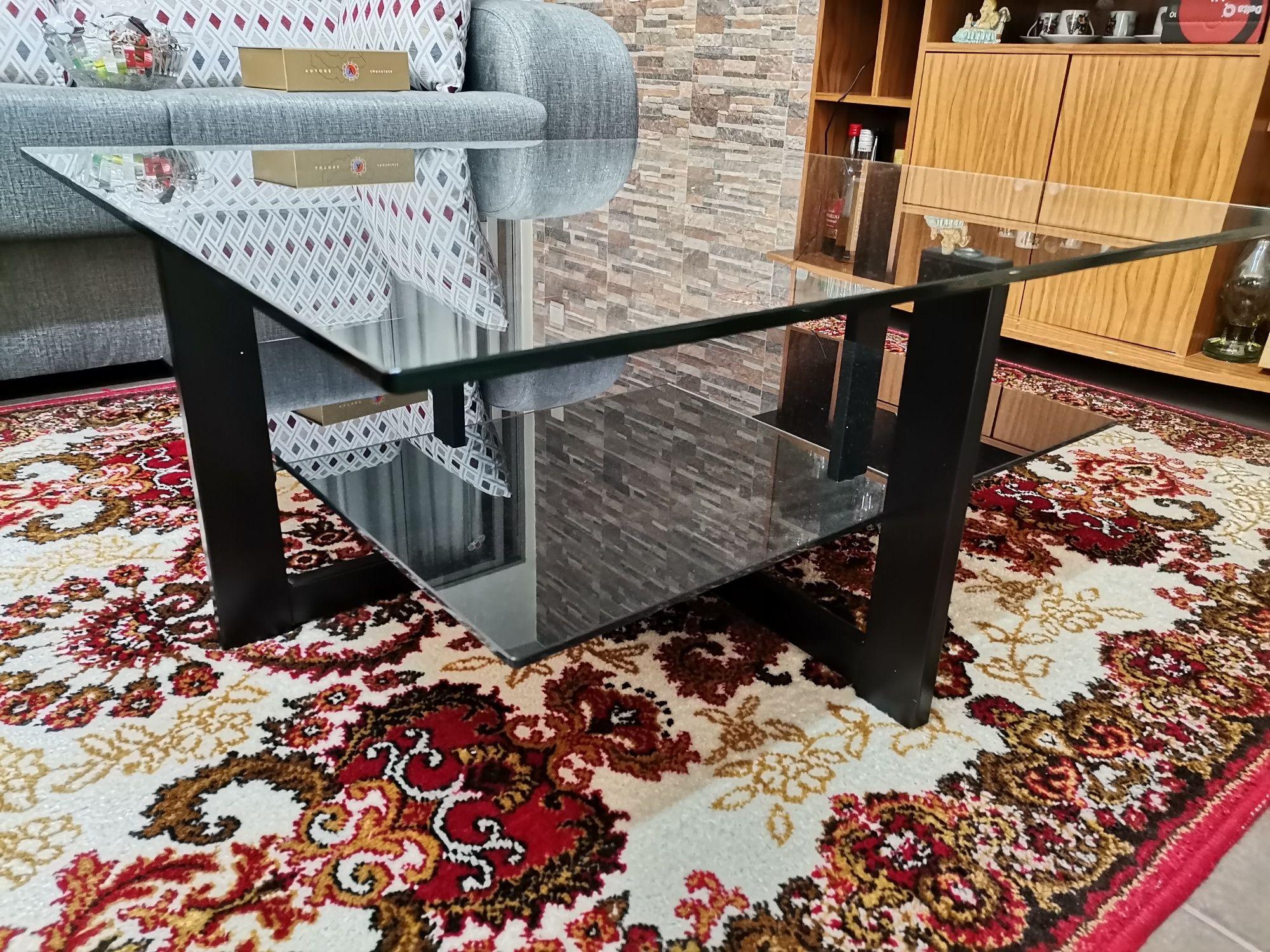 Mesa com 2 vidros