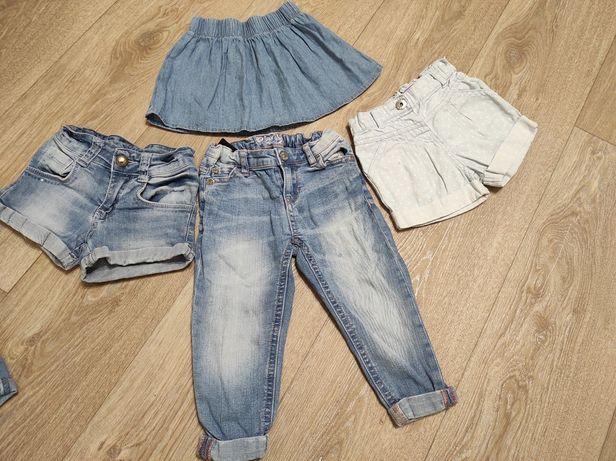 Джинсы ,шорты на девочку . Размер 92.