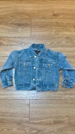 Dziewczęca kurtka jeansowa roz. 98-104 cm.