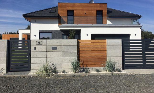 Beton architektoniczny, ogrodzenie z betonu architektonicznego
