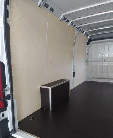 Zabudowa busa furgonu Opel Vivaro L2H2 zabudowa sklejka